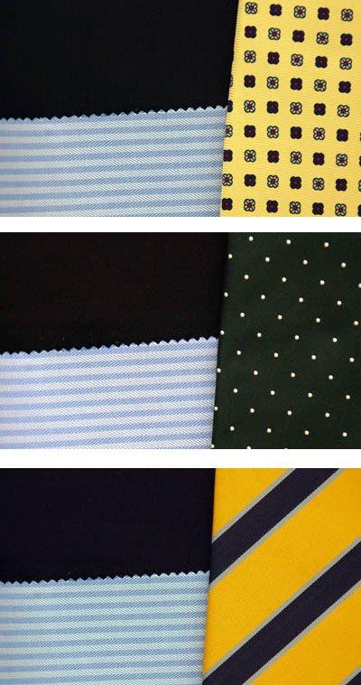 Kết hợp chuẩn giữa Vest tối màu navy, áo sơ mi xanh, cavat