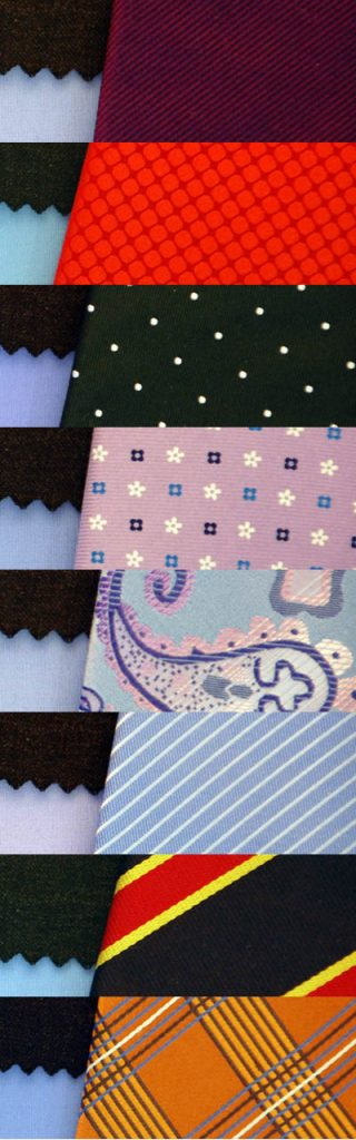 Các loại họa tiết cavat khác nhau khi phối hợp cùng vải vest đen