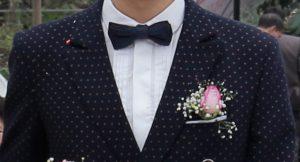 Nơ nam chấm bi H&M cùng suit