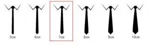 Cà vạt màu tím bản to 7,5 cm