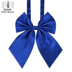 Nơ đeo cổ nữ màu xanh dương