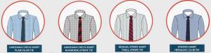 Cavat sọc đi với áo sơ mi nào thì hợp?