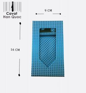 Cà vạt hộp quà tặng màu xanh