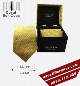 Cà vạt hộp quà tặng vàng kim chấm bi