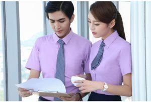 Đồng phục công sở màu tím
