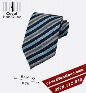 Cà vạt nam xanh đen bạc