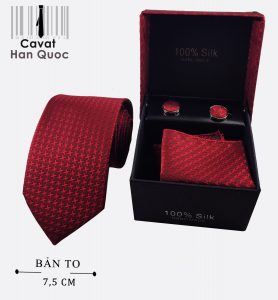 Cà vạt hộp quà tặng đỏ mận