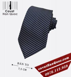 Cà vạt xanh than chấm bi trắng