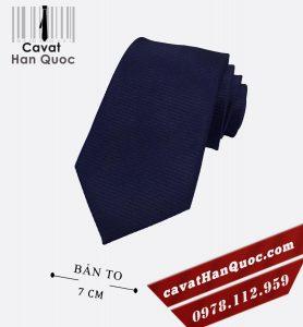 Cà vạt nam xanh than trơn bản to