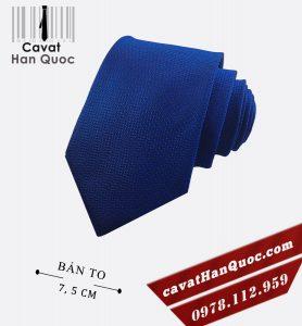 Cà vạt nam đồng phục sần xanh bản to