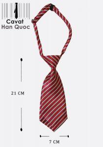 Cà vạt nữ kẻ đỏ đậm kích thước 21cm x 7cm