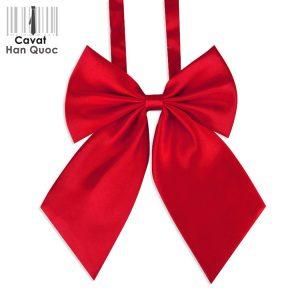 Nơ đeo cổ nữ đỏ tươi