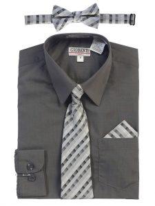 Áo sơ mi màu xám đeo cà vạt màu gì
