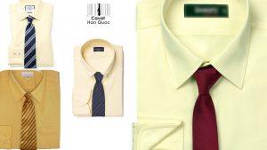 Áo vàng mang cà vạt màu gì