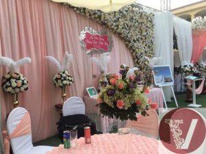 Đám cưới màu hồng lòng tôm pastel
