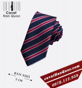 Cà vạt kẻ xanh than đỏ