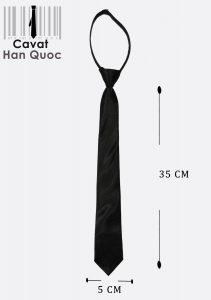 Cà vạt thắt sẵn có khóa kéo màu đen