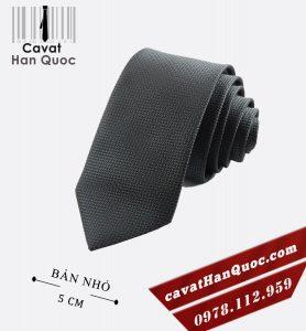 cà vạt bản nhỏ sần xám nhạt