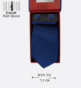 Cà vạt quà tặng xanh than caro xanh nhạt