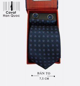 Cà vạt quà tặng xanh than mũi tên