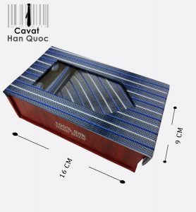 Tie gift gray striped blue buy Viet Nam