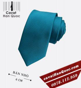 Cà vạt nam xanh dương nhạt bản nhỏ cao cấp 6 cm