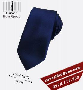 Cà vạt nam xanh than bản nhỏ cao cấp 6 cm