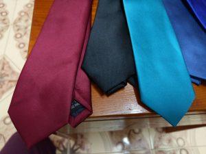 Cà vạt nam bản nhỏ cao cấp đỏ mận, xanh ngọc, đen