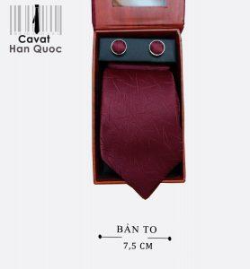 Cà vạt quà tặng đỏ mận lá tre