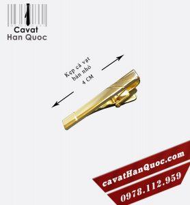 Kẹp cà vạt bản nhỏ mạ vàng đơn giản