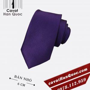 Cà vạt tím đậm cao cấp bản nhỏ 6 cm