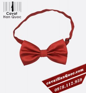 Nơ đeo cổ nam màu đỏ