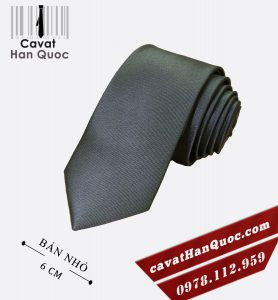 Cà vạt ghi đậm cao cấp bản nhỏ 6 cm