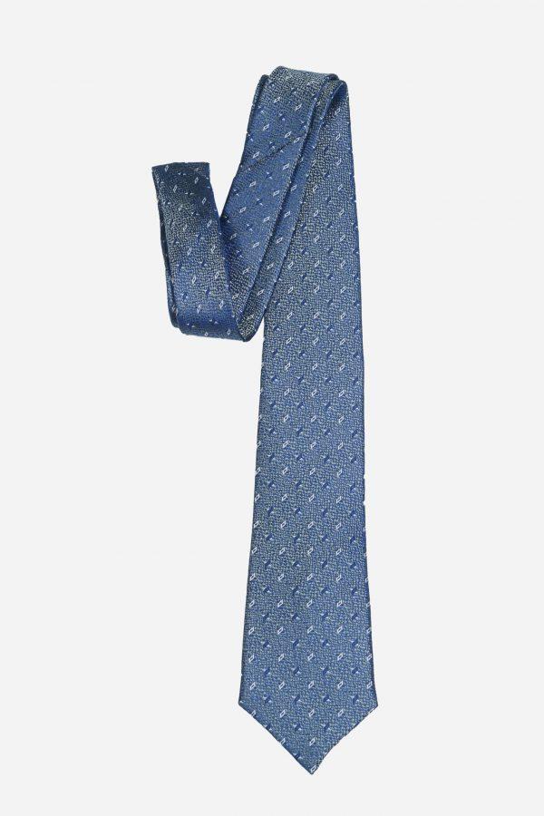 Cà vạt nhập Hàn Quốc xám xanh chữ thập T.NOVO A441