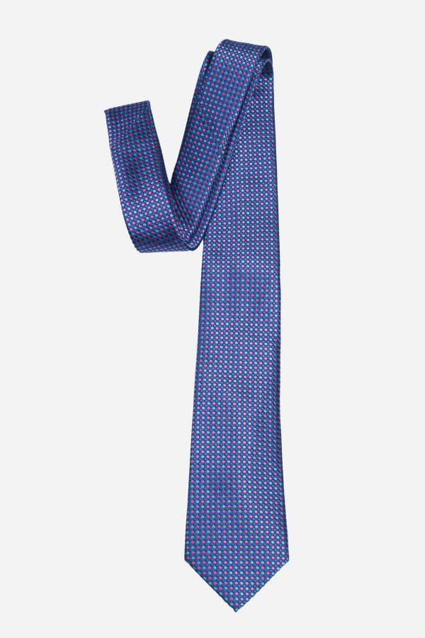 Cà vạt nhập Hàn Quốc xanh chấm hồng neon T.NOVO A430