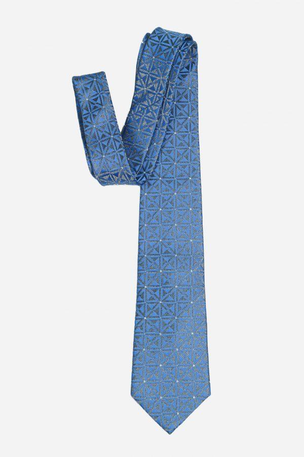 Cà vạt nhập Hàn Quốc xanh than hình học đính đá T.NOVO A448