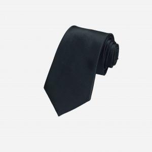 Cà vạt đen mịn lụa cao cấp A391