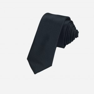 Cà vạt đen vải ô vuông A383