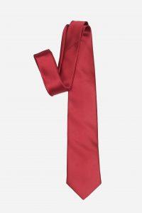 Cà vạt đỏ mận tươi lụa cao cấp A392