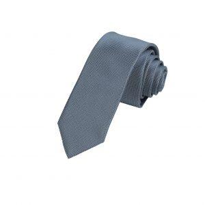 Cà vạt ghi xám đậm vải ô vuông A376
