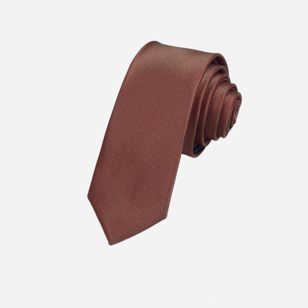 Cà vạt nâu tía vải ô vuông A375