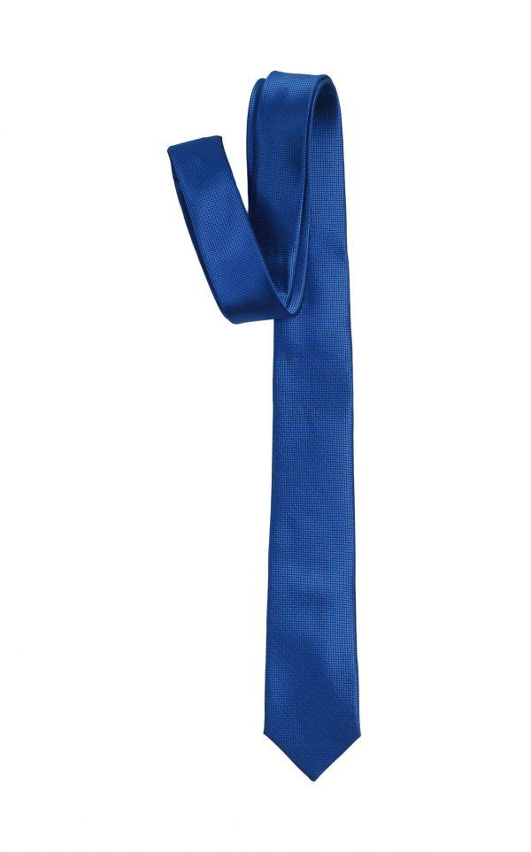 Cà vạt xanh dương đậm vải ô vuông A381