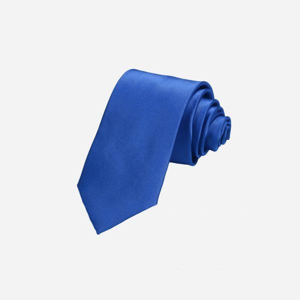 Cà vạt xanh dương lụa cao cấp A396