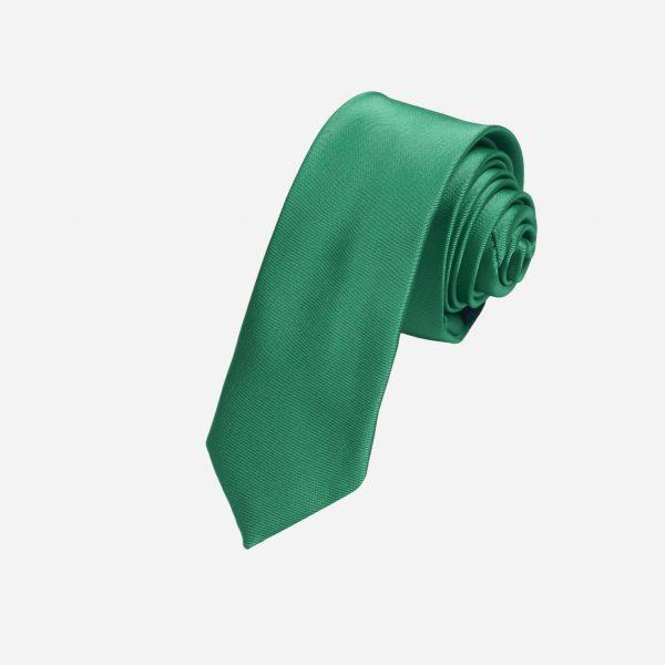 Cà vạt xanh lá lụa cao cấp A389