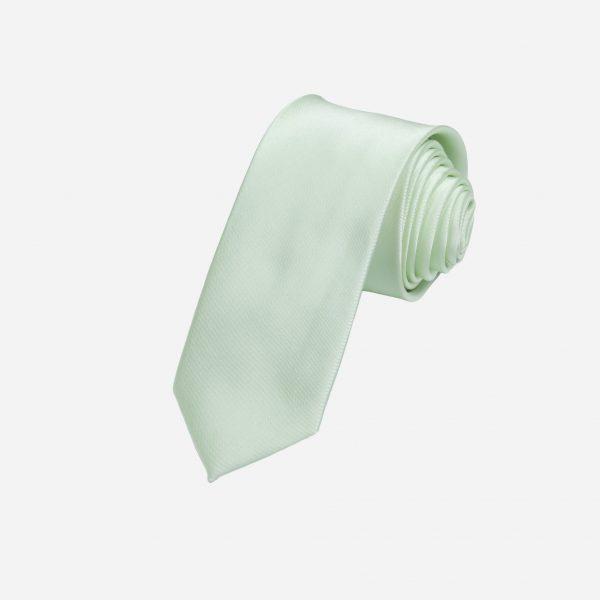 Cà vạt xanh nõn chuối nhạt lụa cao cấp A388
