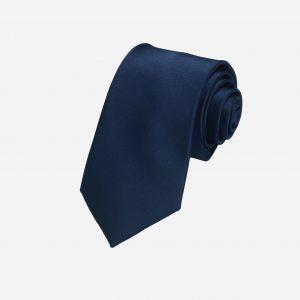 Cà vạt xanh than đậm lụa cao cấp A394