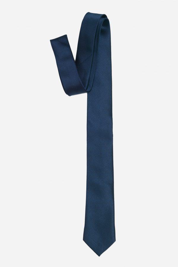 Cà vạt xanh than đậm vải ô vuông A359