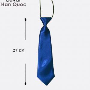 Caravat nữ thắt sẵn xanh than