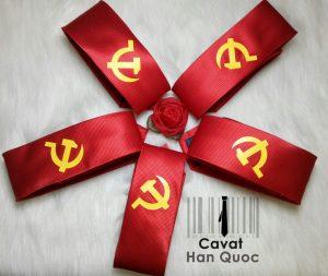 Logo in bám dính chặt với vải Cà vạt