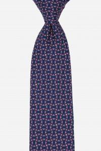 Cà vạt bản to 8cm xanh than họa tiết màu tím